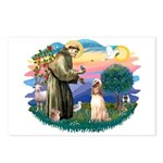 St Francis #2/ Afghan Hound Postcards (Package of