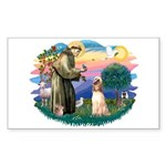 St Francis #2/ Afghan Hound Sticker (Rectangle 10