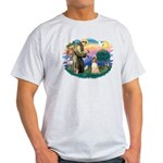 St Francis #2/ Afghan Hound Light T-Shirt