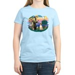 St Francis #2/ Afghan Hound Women's Light T-Shirt