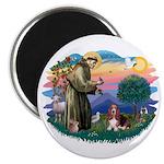 St Francis #2/ Basset Hound Magnet