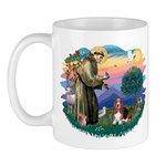St Francis #2/ Basset Hound Mug