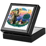 St Francis #2/ Basset Hound Keepsake Box