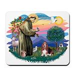 St Francis #2/ Basset Hound Mousepad