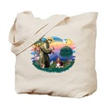 St Francis #2/ Basset Hound Tote Bag