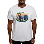St Francis #2/ Basset Hound Light T-Shirt