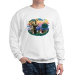 St Francis #2/ Basset Hound Sweatshirt