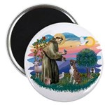St Francis #2/ Boxer (nat ears) Magnet