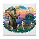 St Francis #2/ Boxer (nat ears) Tile Coaster