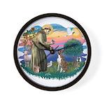 St Francis #2/ Boxer (nat ears) Wall Clock