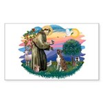 St Francis #2/ Boxer (nat ears) Sticker (Rectangle