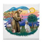 St Francis #2/ English Set. Tile Coaster
