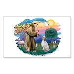 St Francis #2/ English Set. Sticker (Rectangle)