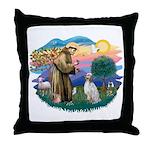 St Francis #2/ English Set. Throw Pillow