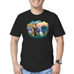 St Francis #2/ English Set. Men's Fitted T-Shirt (