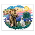 St Francis #2/ English Set. Small Poster