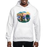 St Francis #2/ English Set. Hooded Sweatshirt