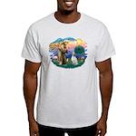 St Francis #2/ English Set. Light T-Shirt