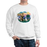 St Francis #2/ English Set. Sweatshirt
