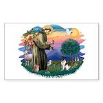 St Francis #2/ Fox Terrier Sticker (Rectangle)