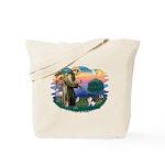St Francis #2/ Fox Terrier Tote Bag