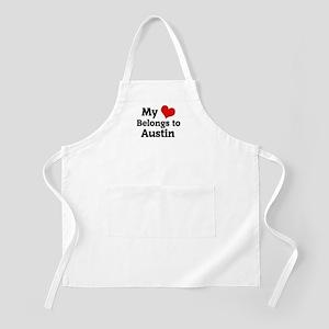My Heart: Austin BBQ Apron