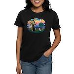 St Francis #2/ Fox Terrier Women's Dark T-Shirt