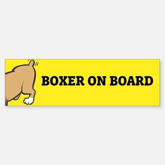 Boxer on Board Bumper Bumper Bumper Sticker