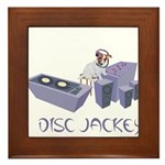 Disc Jackey (jockey) Framed Tile