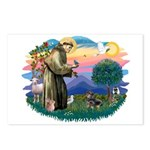 St Francis #2/ Dachshund (BT) Postcards (Package o