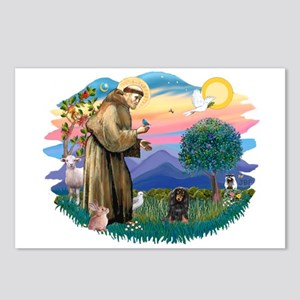 St Francis #2/ Dachshund (LHBT) Postcards (Package