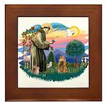 St Francis #2/ Cocker (brn) Framed Tile