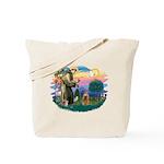 St Francis #2/ Cocker (brn) Tote Bag
