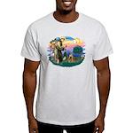 St Francis #2/ Cocker (brn) Light T-Shirt