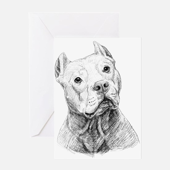 Unique Pitbull Greeting Card