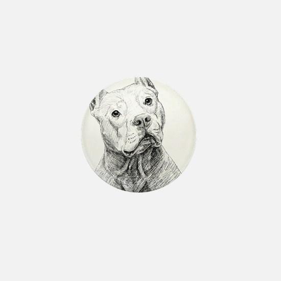 Funny American pit bull terrier Mini Button
