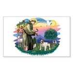 St Francis #2/ Eng Bulldog Sticker (Rectangle 10 p