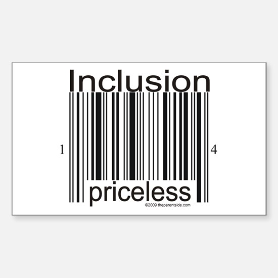 Inclusion Priceless Sticker (Rectangle)
