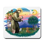St Francis #2/ Dachshund (red) Mousepad