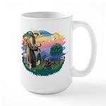 St Francis #2/ Cocker (blk) Large Mug
