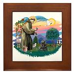 St Francis #2/ Cocker (blk) Framed Tile