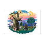 St Francis #2/ Cocker (blk) Mini Poster Print