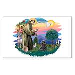 St Francis #2/ Cocker (blk) Sticker (Rectangle)