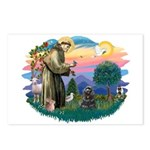 St Francis #2/ Cocker (blk) Postcards (Package of