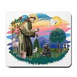 St Francis #2/ Cocker (blk) Mousepad