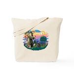 St Francis #2/ Cocker (blk) Tote Bag