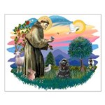 St Francis #2/ Cocker (blk) Small Poster