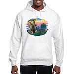 St Francis #2/ Cocker (blk) Hooded Sweatshirt
