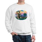 St Francis #2/ Cocker (blk) Sweatshirt