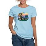 St Francis #2/ Cocker (blk) Women's Light T-Shirt